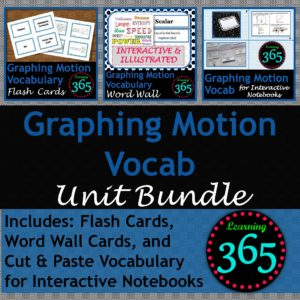 Graphing Motion Vocab BUNDLE Cover
